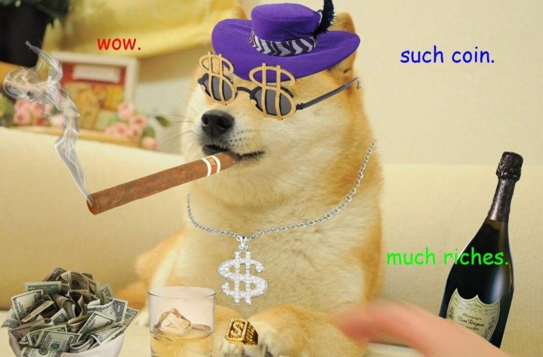 Dogecoin мем криптовалюта
