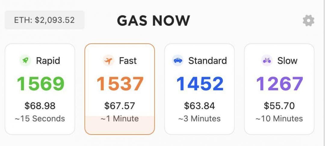 эфириум газ курс цена