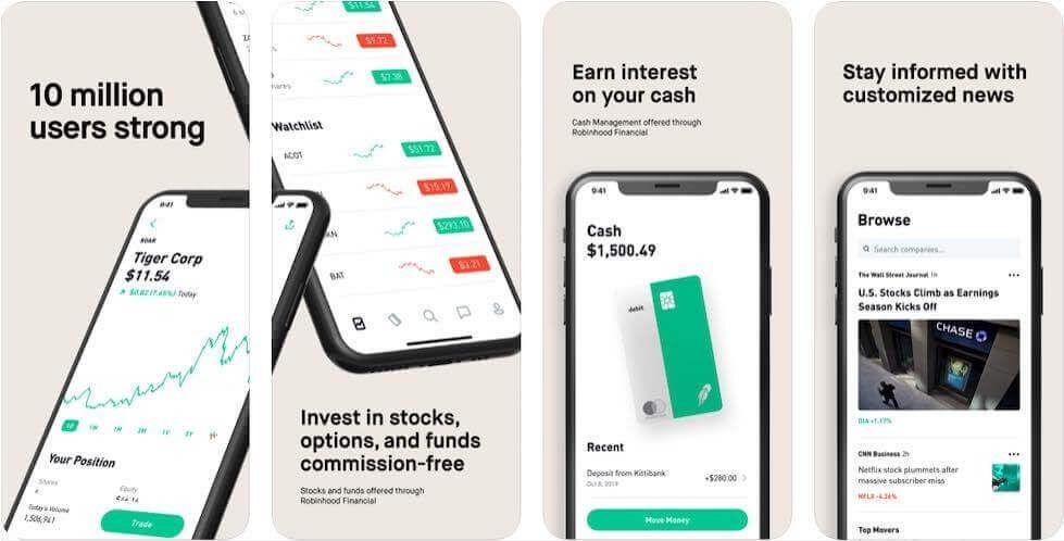 Robinhood трейдинг акции рынок