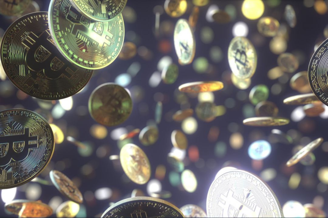 монеты биткоина падают