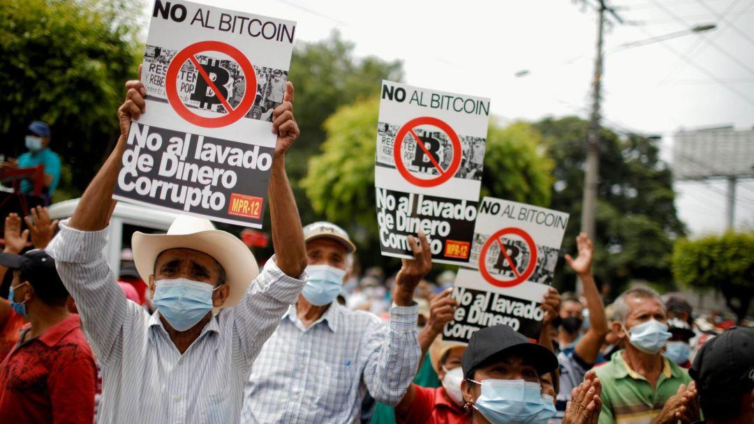 Сальвадор протест Биткоин криптовалюта